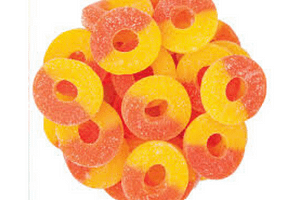 100mg peach GUMMIES