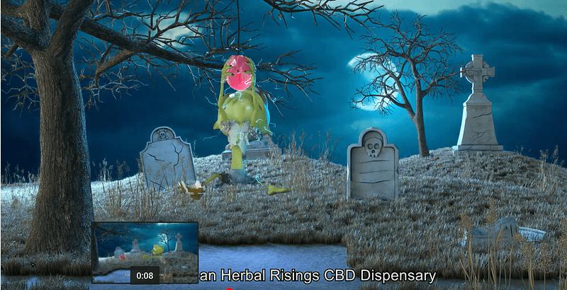 Halloween commercial zombie cbd